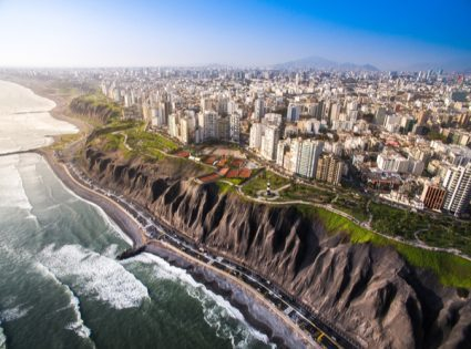 LIMA, PERU: Panoramic view of Lima from Miraflores.
