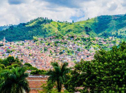 Aerial Medellin Colombia