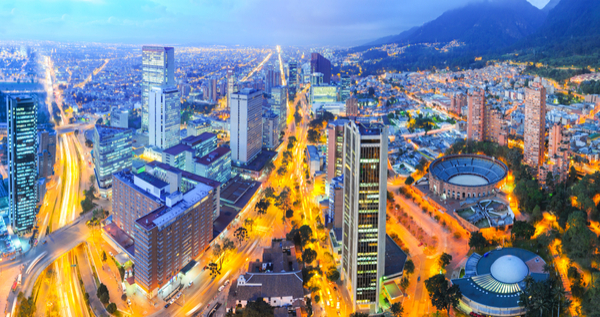 panoramic of Bogota Colombia