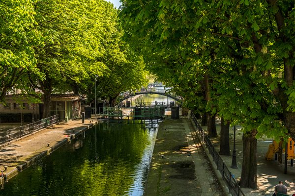 St Martin's canal in Paris X district