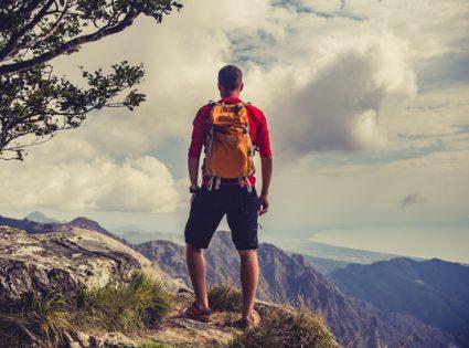 man fitness hiking