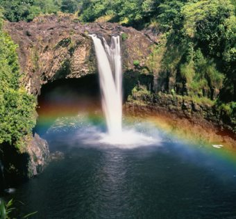 Rainbow Waterfalls in Paradise on the Big Island in Hawaii