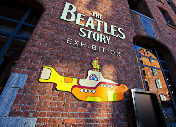 The Beatles Story Exhibition Sign, at Albert Dock