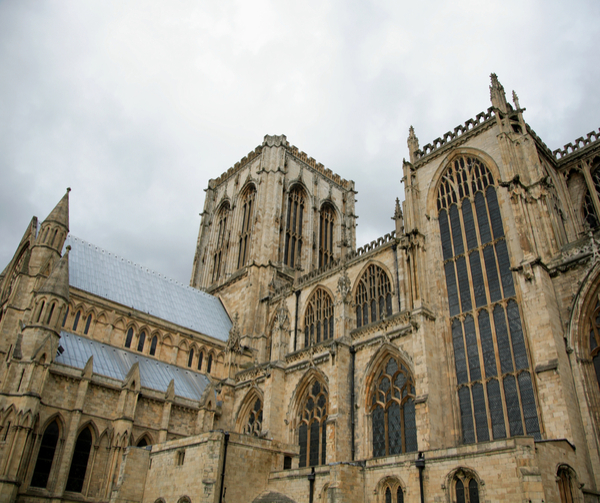 York Minster York, England on a grey day