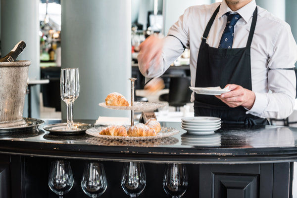 cafe worker in Paris