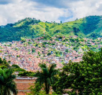 Aerial Medellin Colombia