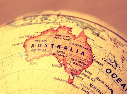 australia on a map