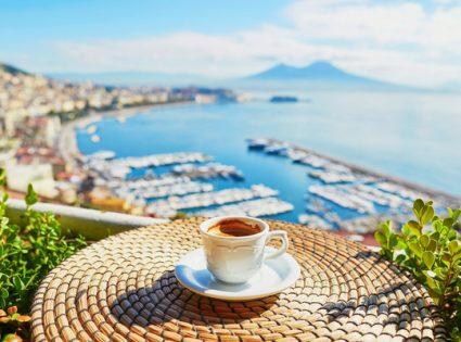 italian espresso with a view